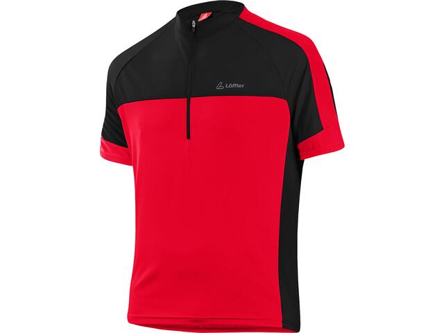 Löffler Pace Half-Zip Bike Shirt Men red